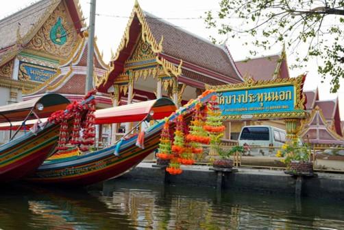 Klong Fahrt auf dem Phraya Fluß